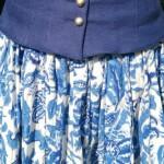 Edith - Messevorbereitung Rock blau-weiß