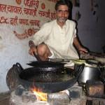 Indische Küche offenes Feuer