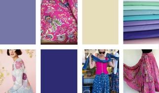 Maxiröcke Pink Blau