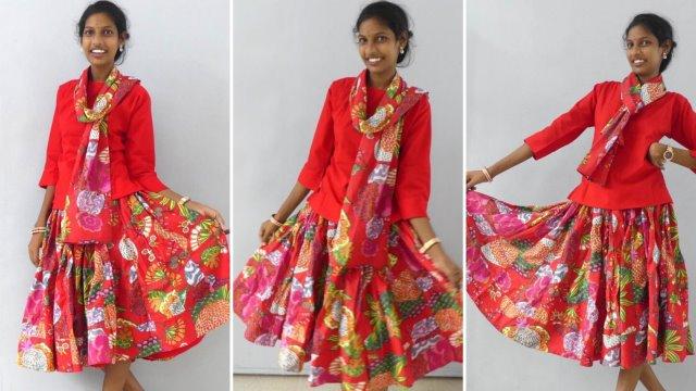 Röcke weit - rot Joyvita