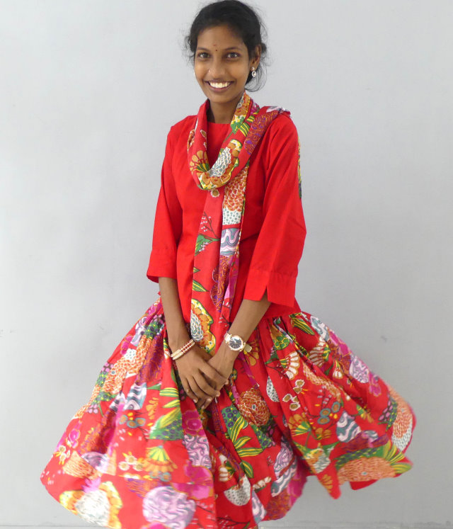 Weite Röcke Rot Joyvita